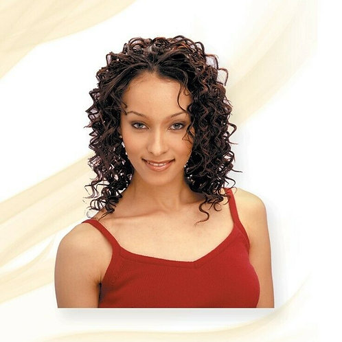 100% HUMAN HAIR DEEP WAVE WEAVE;MILKY WAY;CURLY;TANGLE-FREE;SEW-IN;SHAKE N GO