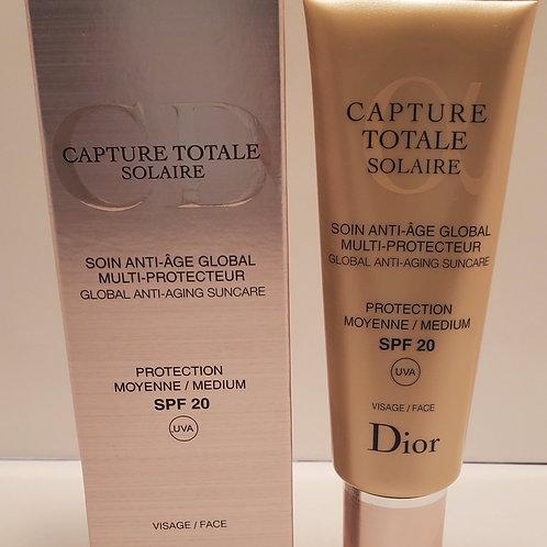 Christian Dior capture totale solaire global anti aging suncare spf 20 UVA; face