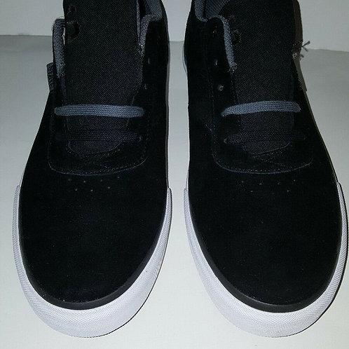 STATE FOOTWEAR; MADISON BLACK/PEWTER SUEDE MEN'S SKATE SHOES;10602