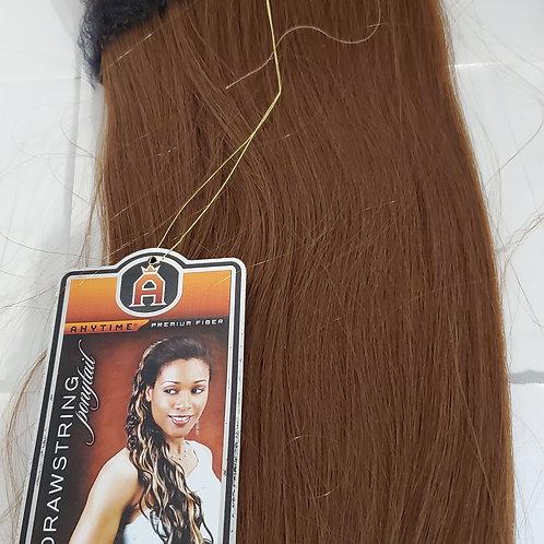 Drawstring ponytail; premium fiber; style Galaxy; Straight; 24 inch; for women;