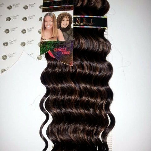 100% HUMAN HAIR EUROPEAN CURL WEAVE#1B/30;CURLY;WET& W ;JANET;GOLD K;PLATINUM