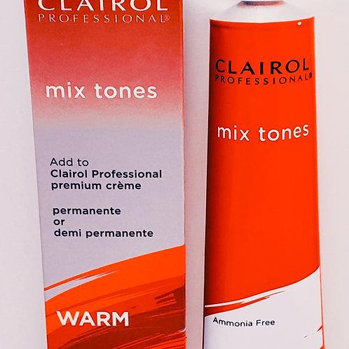 Clairol professional hair color permanente or demi permenente; warm mix tones