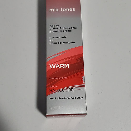 CLAIROL PROFESSIONAL HAIRCOLOR PERMANENTE OR DEMI PERMANENTE;WARM MIX TONES; 2OZ
