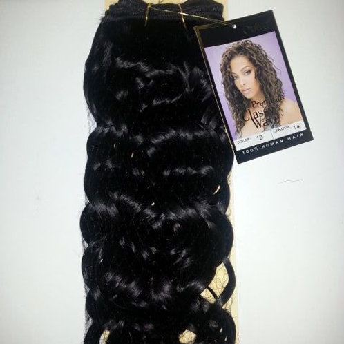 100% HUMAN HAIR TANGLE FREE PREMIUM CLASSY WAVE#1B;WEAVE;CURLY;OUTRE;WOMEN