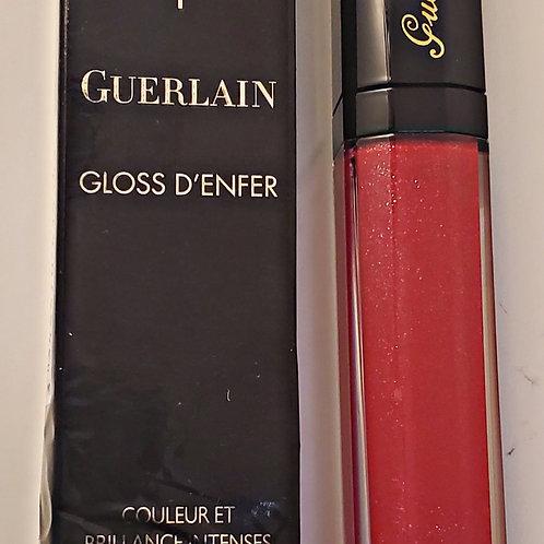 Guerlain maxi shine lip gloss #421 Red pow; 0.25oz lip gloss