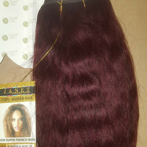 100% HUMAN HAIR TANGLE FREE FRENCH WEAVING WET & WAVE; WAVY;JANET COLLECTION