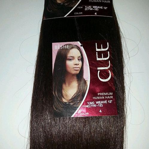 """PREMIUM HUMAN HAIR/YAKI WEAVING/STRAIGHT/12""""/ BY BESHE CLEE"""
