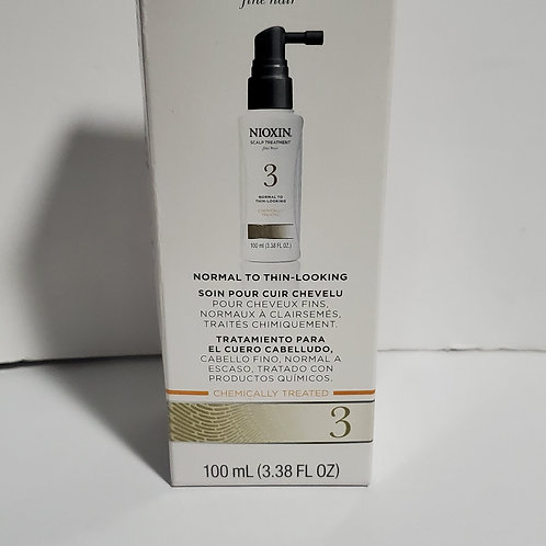 LOT OF 2 NIOXIN SCALP TREATMENT 3;FOR NORMAL TO THIN-LOOKING HAIR;2 X 3.38FL.OZ