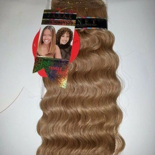 100% HUMAN HAIR EUROPEAN CURL WEAVE#1B/27;CURLY;JANET;GOLD K;PLATINUM;WET& W