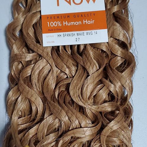 100% HUMAN HAIR WEAVE; SENSATIONNEL PREMIUM NOW;SPANISH WAVE;CURLY;COLOR # 27
