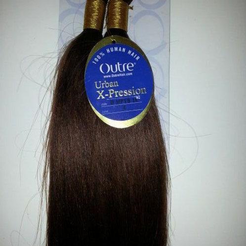 "100% HUMAN HAIR MICRO PERM YAKI BULK 16""; BRAIDING;STRAIGHT;OUTRE XPRESSION"