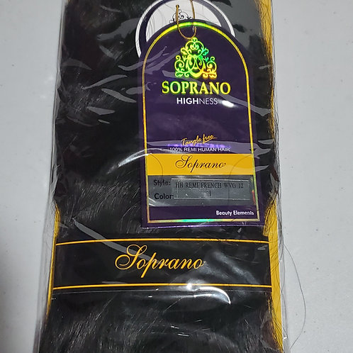 "100% REMI HUMAN HAIR TANGLE FREE;FRENCH WAVE WEAVING;12""; SOPRANO HIGHNESS;WAVY"