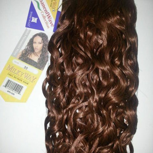 "100% HUMAN HAIR SPANISH PERM WAVE WEAVE;12"";CURLY;WEFT;MILKY WAY;WOMEN"