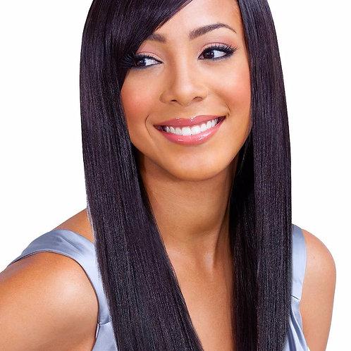 100% REMI HUMAN HAIR WEAVE;NATURAL YAKY;STRAIGHT;BOBBI BOSS GENESIS;SEW-IN;WOMEN