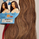 Thumbnail: 100% Human Hair Indian Remy Natural; Wet & Wavy;2 styles in 1; Straight; Wavy; W