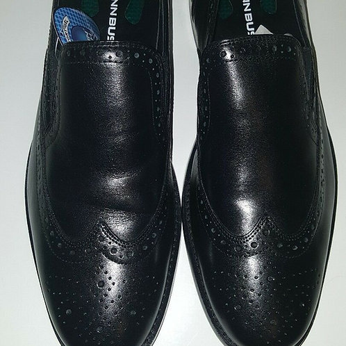 NUNN BUSH NORRIS WINGTIP SLIP ON MEN'S SHOES;BLACK;M;84690001