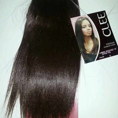 "PREMIUM HUMAN HAIR/YAKI WEAVING/STRAIGHT/10""/ BY BESHE CLEE"