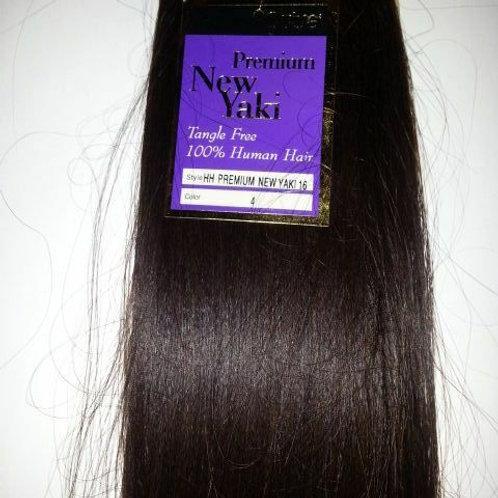 "100% HUMAN HAIR TANGLE FREE PREMIUM NEW YAKI WEAVE;16"" #4;STRAIGHT;OUTRE;WOMEN"
