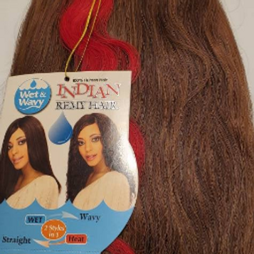 100% Human Hair Indian Remy Natural; Wet & Wavy;2 styles in 1; Straight; Wavy; W