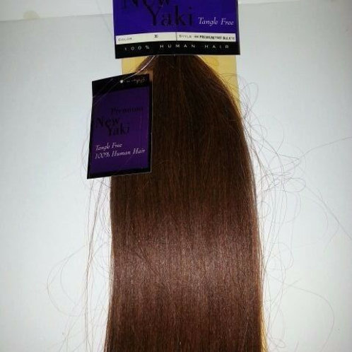 "100% HUMAN HAIR TANGLE FREE PREMIUM NEW YAKI BULK 16"";STRAIGHT;BRAIDING;OUTRE"