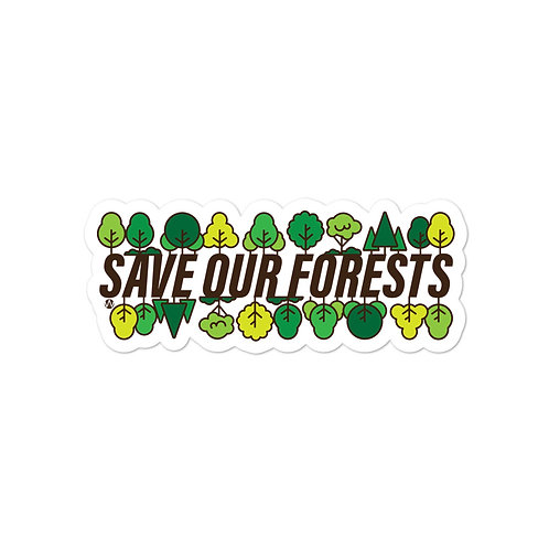 Save Our Forests - Stickers