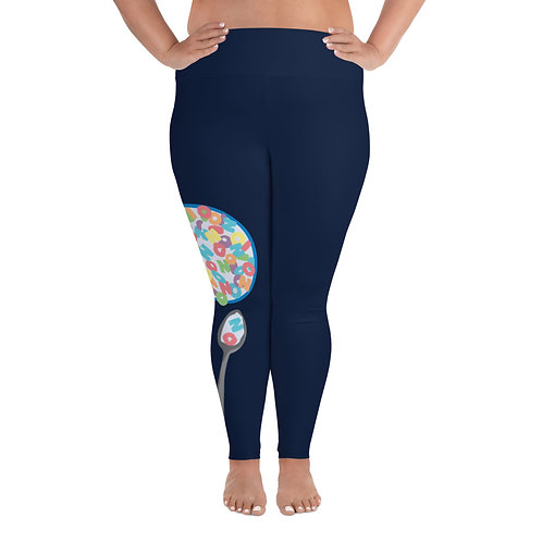 NO for Breakfast - All-Over Print Plus Size Leggings