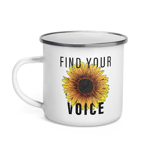 Find Your Voice - Enamel Mug
