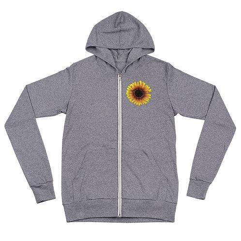 Rarely Quiet (dark type) - Lightweight Unisex zip hoodie