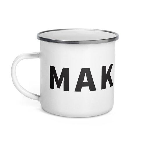 Make Art - Enamel Mug