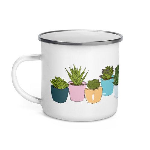 Succulents - Enamel Mug