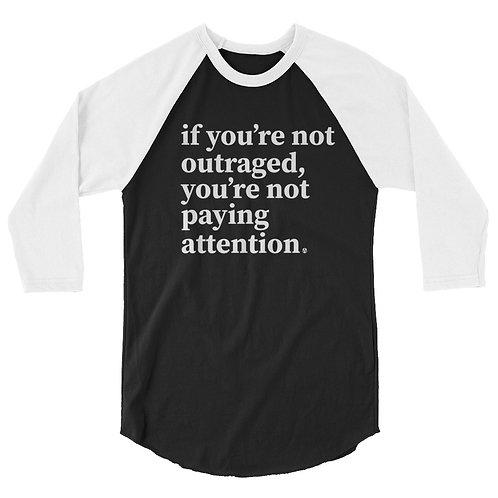 outraged - 3/4 sleeve raglan shirt