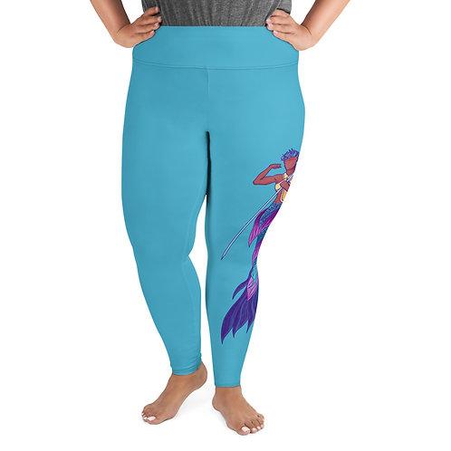 Merperson (medium tone) - All-Over Print Plus Size Leggings