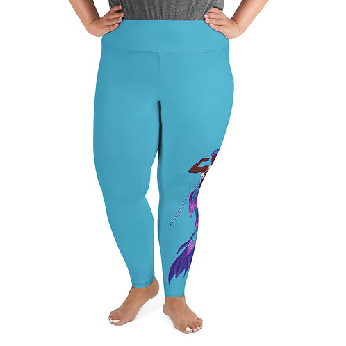Merperson (darker tone) - Plus Size Leggings