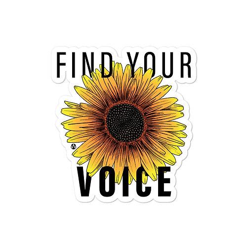 Find Your Voice - Sticker