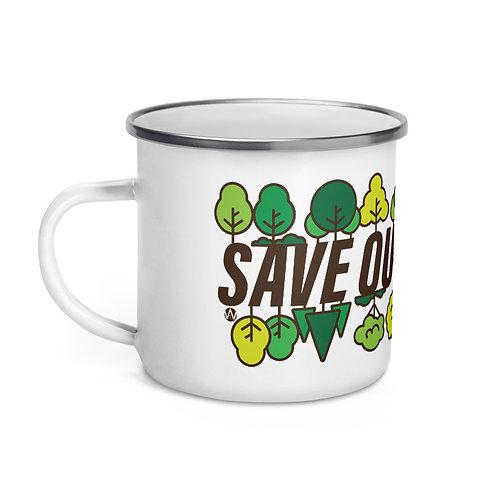 Save Our Forests - Enamel Mug