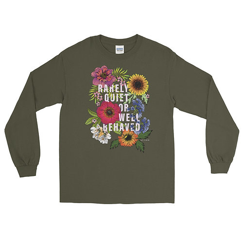 Rarely Quiet (light typography) - Men's Long Sleeve Shirt