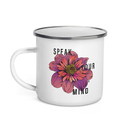 Speak Your Mind - Enamel Mug