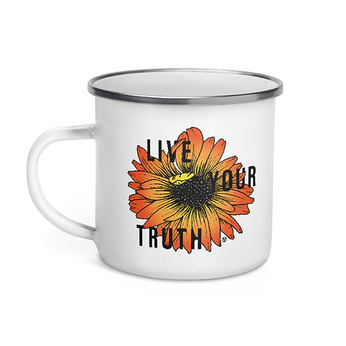 Live Your Truth - Enamel Mug