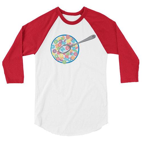 NO for Breakfast - 3/4 sleeve raglan shirt