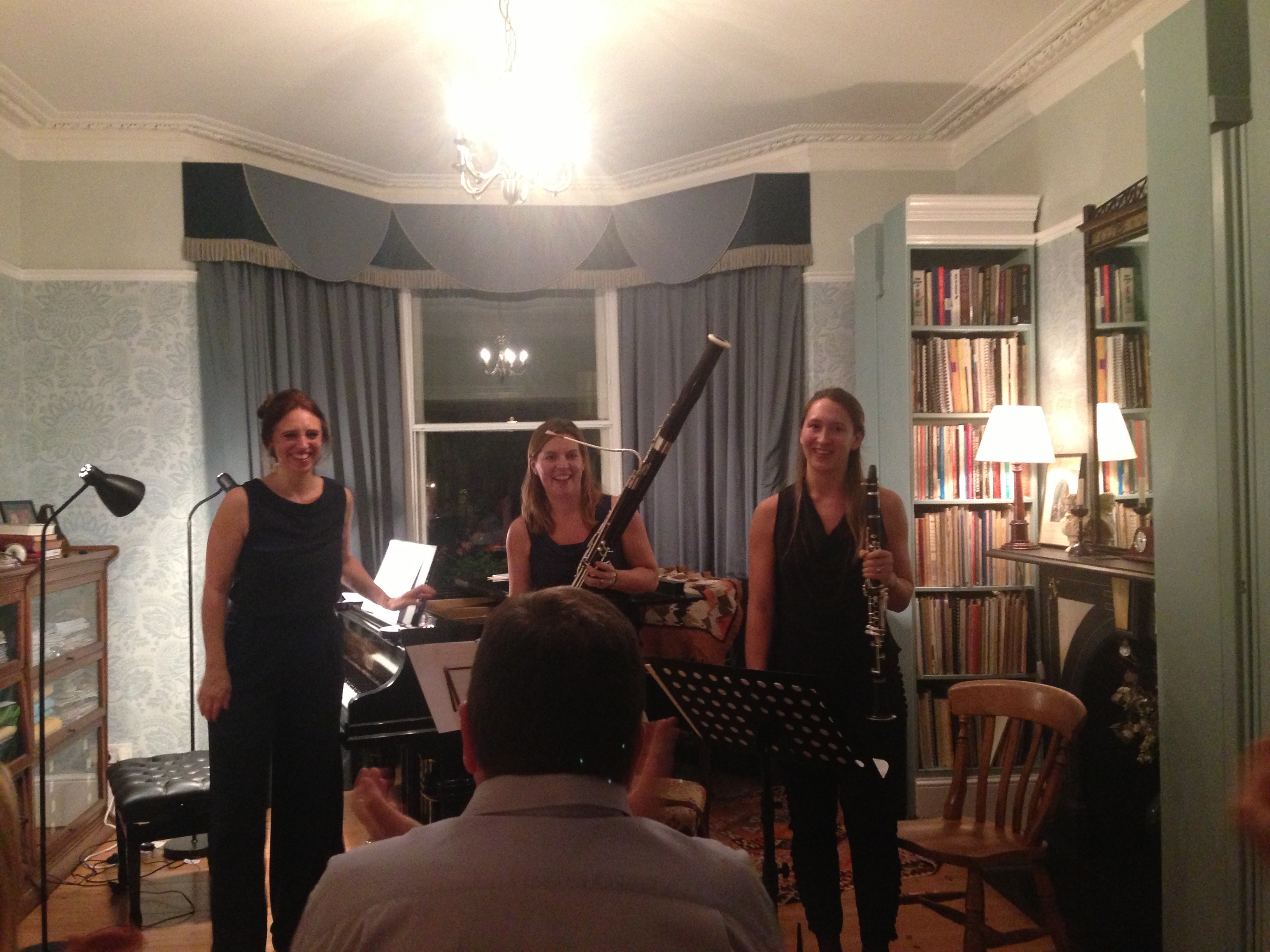Première of a new work by composer James Rae with the Caledonia trio (Iona Garvie and Fiona Mitchell