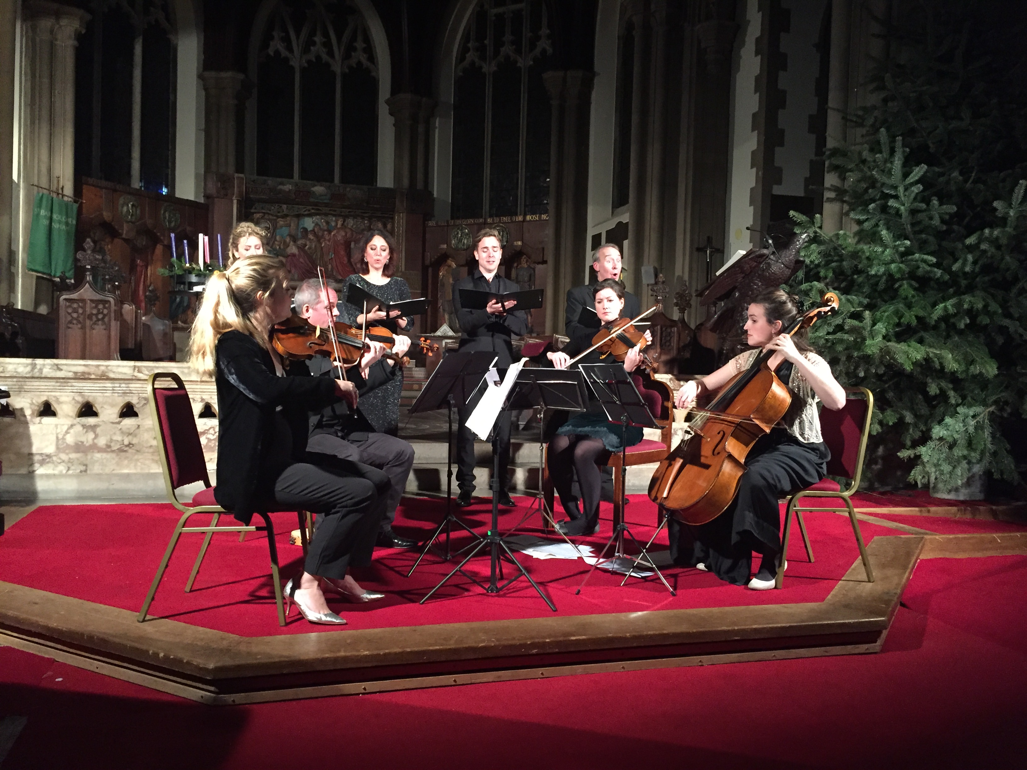 enSEmble26 christmas concert for string quartet and vocal quartet