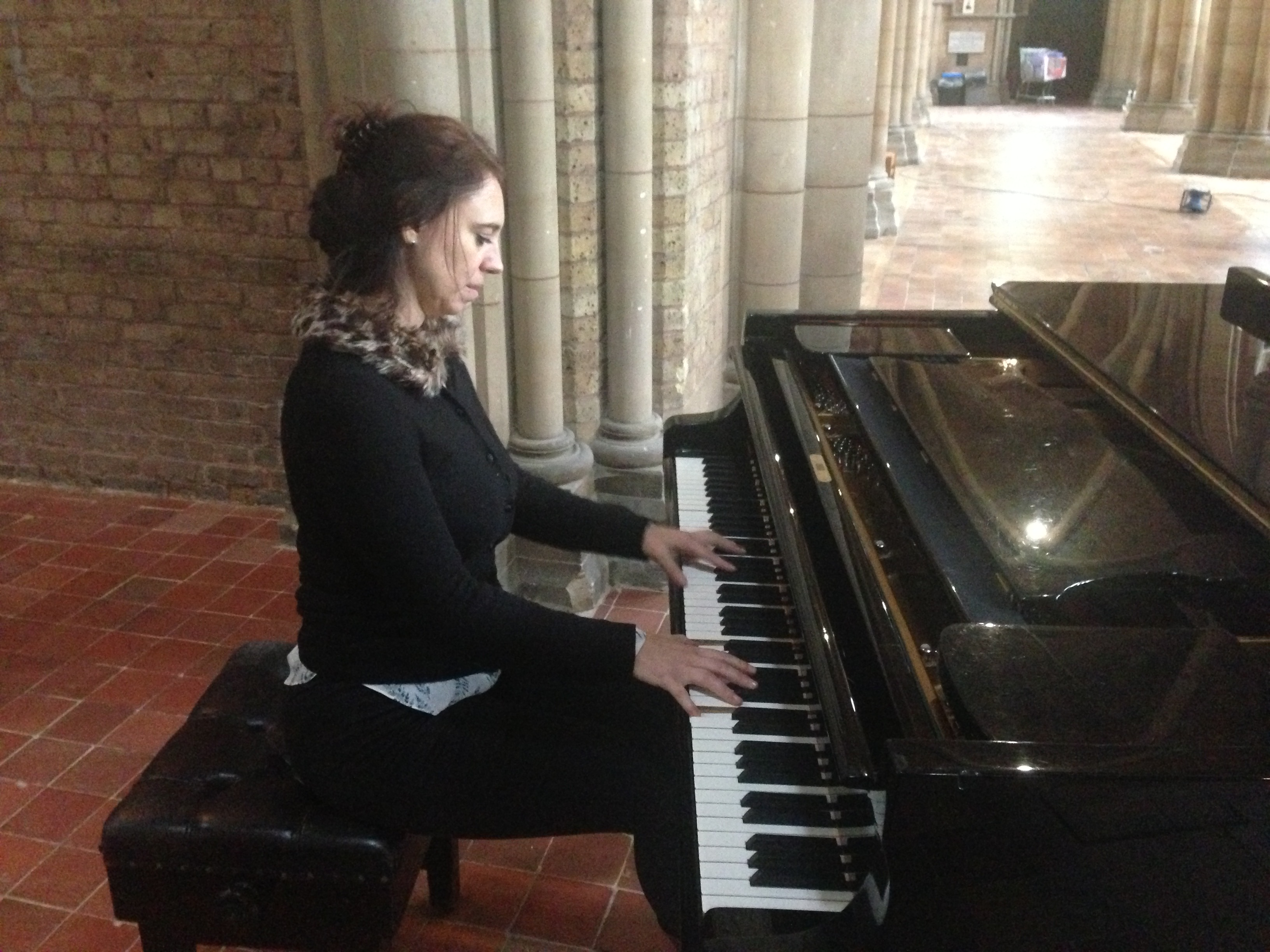 Playing my Steinway D466 at St John's Church Upper Norwood