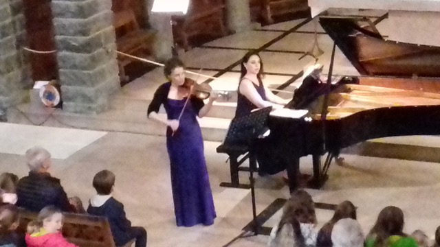Concert in Plateau d'Assy, France with Claire Roff