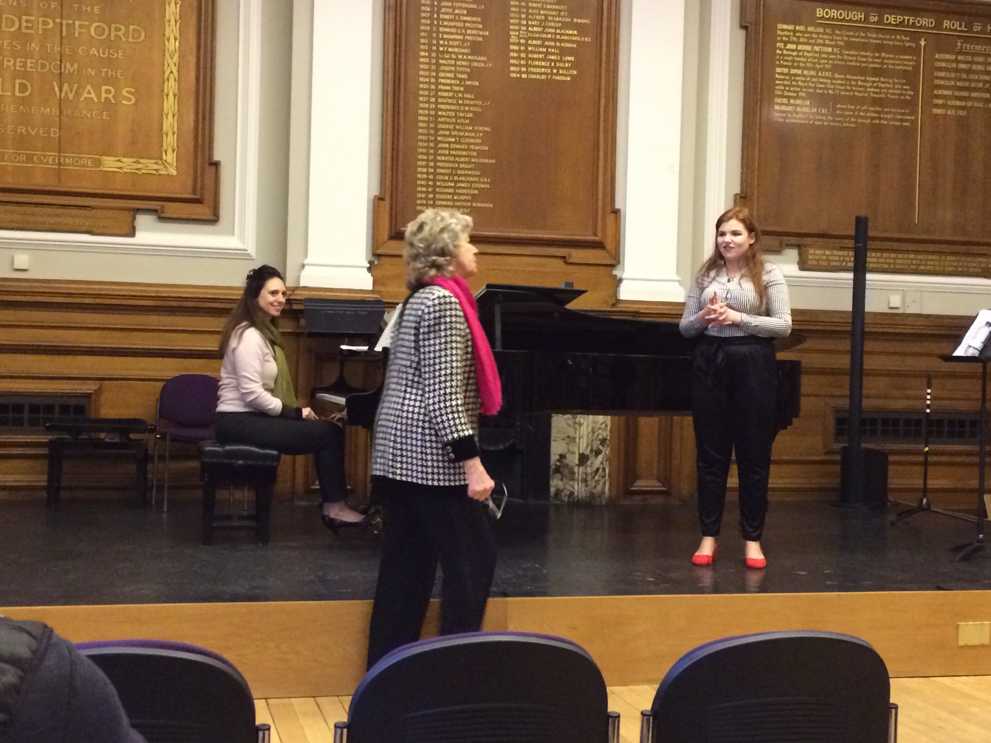 Masterclass with Felicity Lott at Goldsmiths College, London