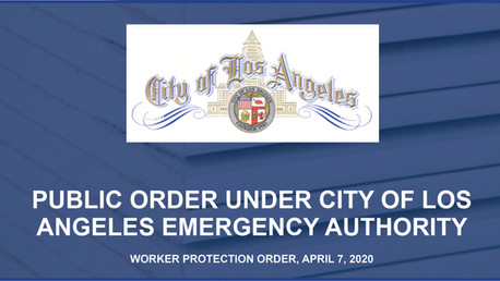 City of LA Worker Protection Order