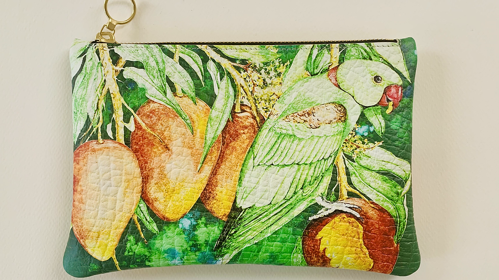 'Indian Rose ringed' small clutch bag