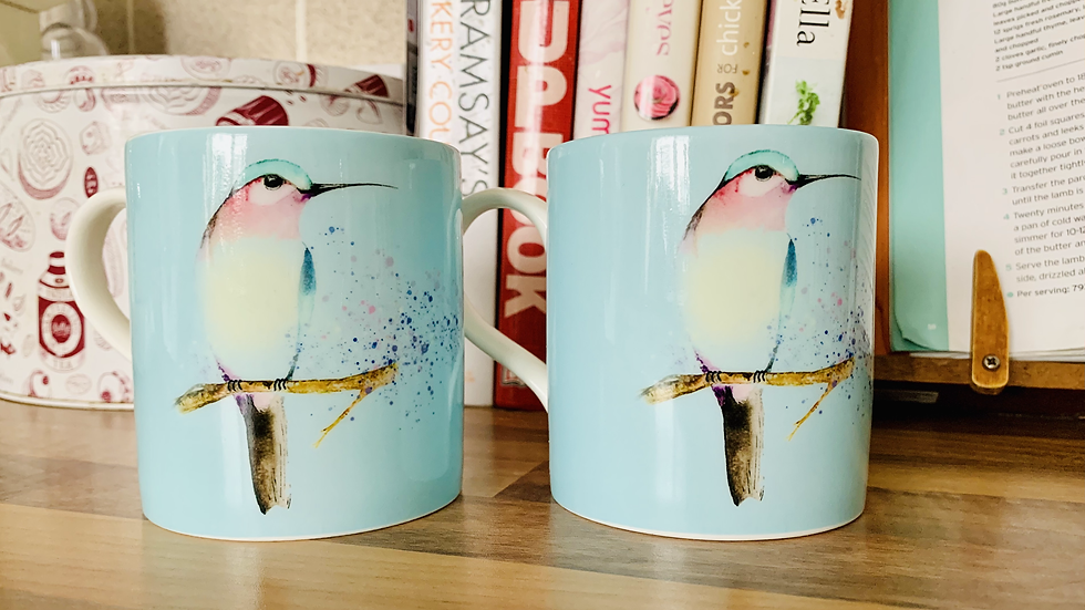 'Humming at rest' set of two mugs