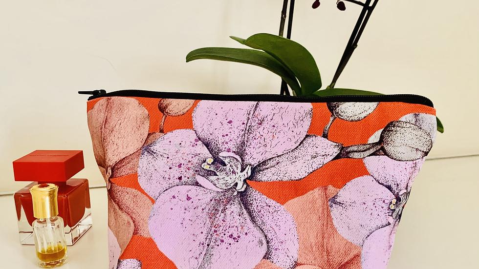 'Orchids in bloom' make up bag