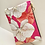 Thumbnail: 'Orchids in Bloom' in fuchsia - Leather clutch