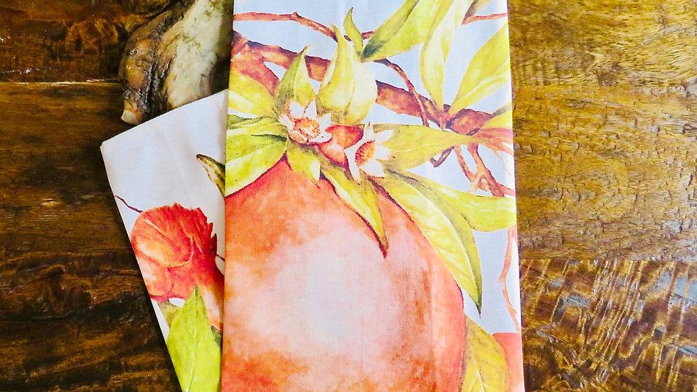 'Pomegranates' Tea towel
